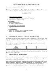 COMPTE RENDU DU CONSEIL MUNICIPAL - Wolfisheim