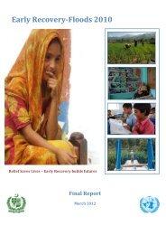 ERWG Final Progress Report March 2012 - Pakistan Floods 2010