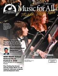 Middle School Newsletter - April 2008 - Music for All
