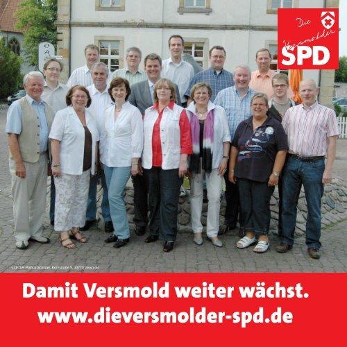 Informationsblatt der Versmolder SPD zur Kommunalwahl am 30.08 ...