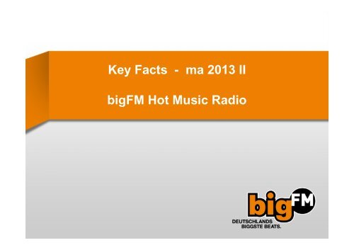 können Sie sich die Keyfacts ma 2013 Radio II als PDF downloaden
