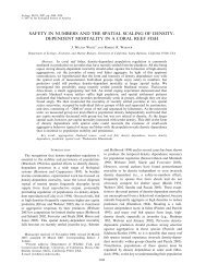 safety in numbers and the spatial scaling of density- dependent ...