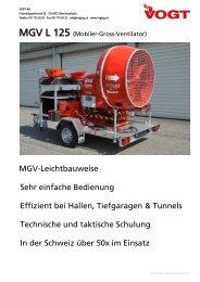 Mobiler-Gross-Ventilator L 125 auf Anhänger - Vogt AG
