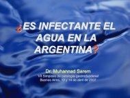 Es infectante el agua en la Argentina? - caded