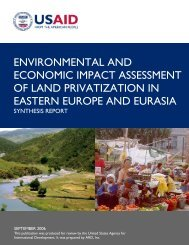Environmental and Economic Impact Assessment of Land ...