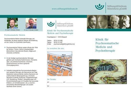 Klinik für Psychosomatische Medizin und Psychotherapie
