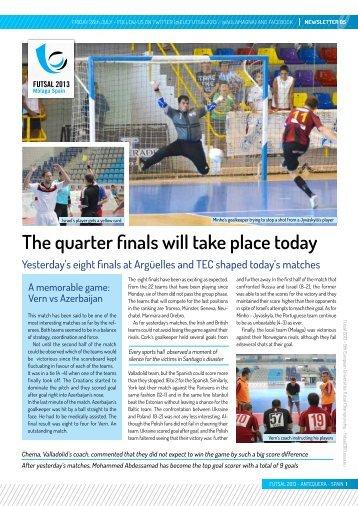 Newsletter 5 - European Universities Futsal Championship 2013
