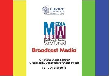 Broadcast Media - Christ University