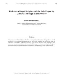 Understanding of Religion and the Role Played by Cultural - Isles ...