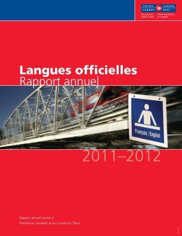 Rapport annuel sur les langues officielles - Canada Post