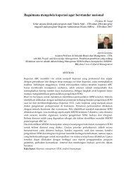 Bagaimana mengelola koperasi agar berstandar nasional - SBM ITB
