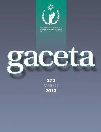 Gaceta no. 272 - Comisión Nacional de los Derechos Humanos