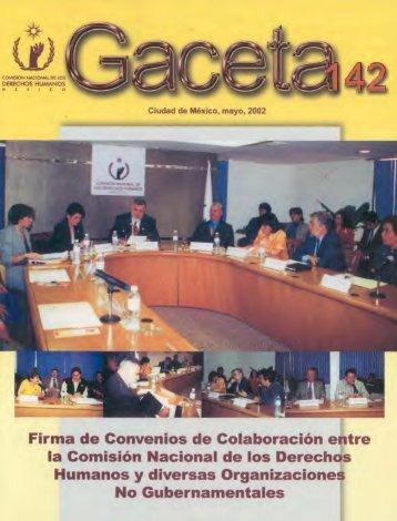 Gaceta N° 142 - Comisión Nacional de los Derechos Humanos