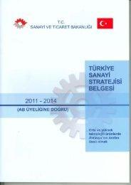 Türkiye Sanayi Strateji Belgesi (2011-2014) - Avrupa Birliği Bakanlığı
