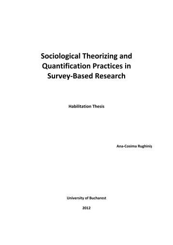 Doctoral and habilitation thesis