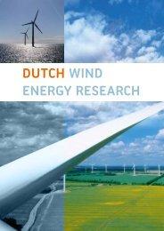 Dutch WinD EnErgy rEsEarch - TKI Wind op Zee