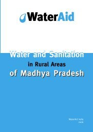 Water and sanitation in rural areas of Madhya Pradesh - WaterAid