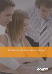 Constitución de Empresas por Internet - Galileo