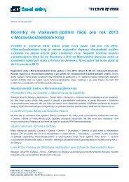 Novinky ve vlakovém jízdním řádu pro rok 2013 v ... - Vlaky.net