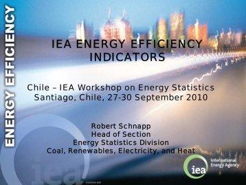 IEA ENERGY EFFICIENCY INDICATORS