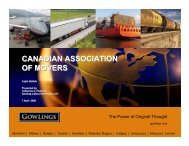 Warehouse Law for Movers – April 7, 2009 - Canadian Association ...