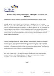 Rawabi Holding three year Enterprise Subscription Agreement with ...