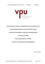 Stellungnahme des VPU zum Änderungsantrag
