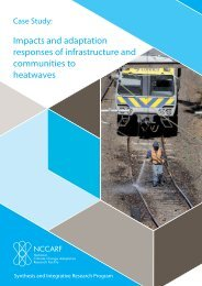 Impacts and adaptation responses of infrastructure and communities ...