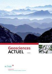 Geoscience ACTUEL 1/2009 - Platform Geosciences - SCNAT