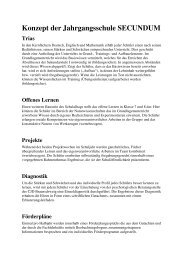Konzept der Jahrgangsschule SECUNDUM - Homepage - CJD Bonn