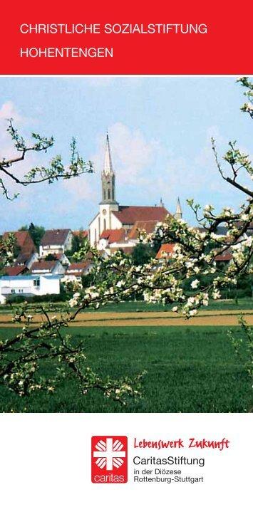 christliche sozialstiftung hohentengen - Lebenswerk Zukunft