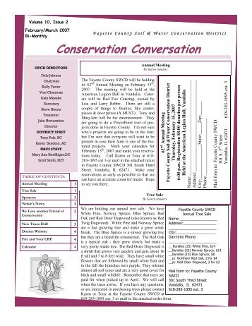 Conservation Conversation - Fayette County SWCD