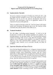 Framework for Development of Digital Audio Broadcasting (DAB)