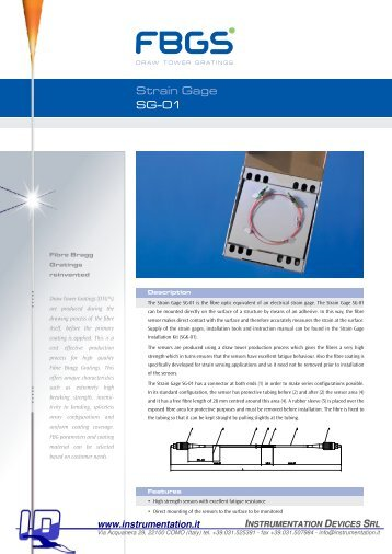 Strain Gage SG-01 - INSTRUMENTATION DEVICES