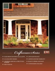Craftsman Series Catalog Section - Turncraft