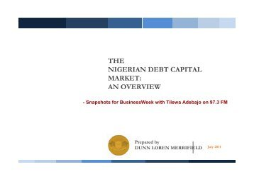 introduction to debt capital market A capital market is a financial market in which long-term debt (over a year) or equity-backed securities are bought and sold capital markets channel the wealth of savers to those who can put it to long-term productive use, such as companies or governments making long-term investments.