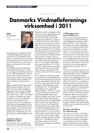 Bestyrelsens årsberetning - Danmarks Vindmølleforening