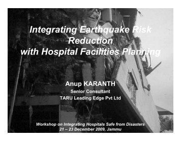 Integrating Earthquake Risk Reduction with Hospital Facilities ...