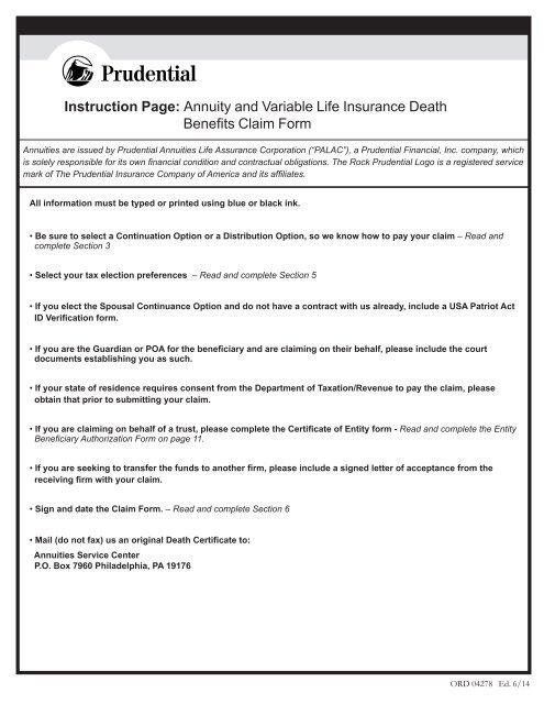 Claiming Life Insurance