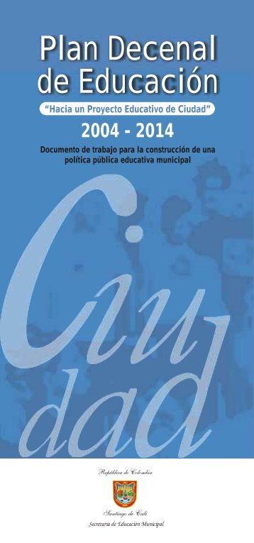 Plan Decenal Cartilla Ciudad - Alcaldía de Santiago de Cali