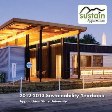 2012-2013 Sustainability Yearbook - Sustain Appalachian ...