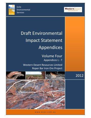 wdr eis - appendix l - Western Desert Resources
