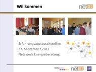Der Vor-Ort-Energiecheck PLUS Beratung - Netzwerk ...