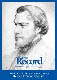 The Record - Vinnies Social Justice Blog - St Vincent de Paul Society