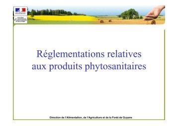 Réglementations relatives aux produits phytosanitaires