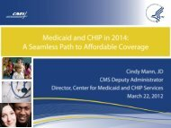 Medicaid and CHIP in 2014: A Seamless Path to ... - Medicaid.gov