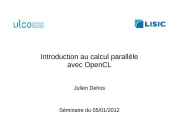 Introduction au calcul parallèle avec OpenCL - LISIC