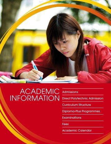 AcAdemic informAtion - Singapore Polytechnic