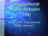 What is the Congregational Health Network? - Methodist Healthcare