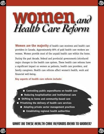 Women & Health Care Reform - The National Network on ...